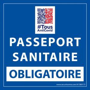 sticker-sanitaire-passeport-sanitaire-obligatoire-vinyle-avec-image-qr-code- -x- -mm-fond-bleu